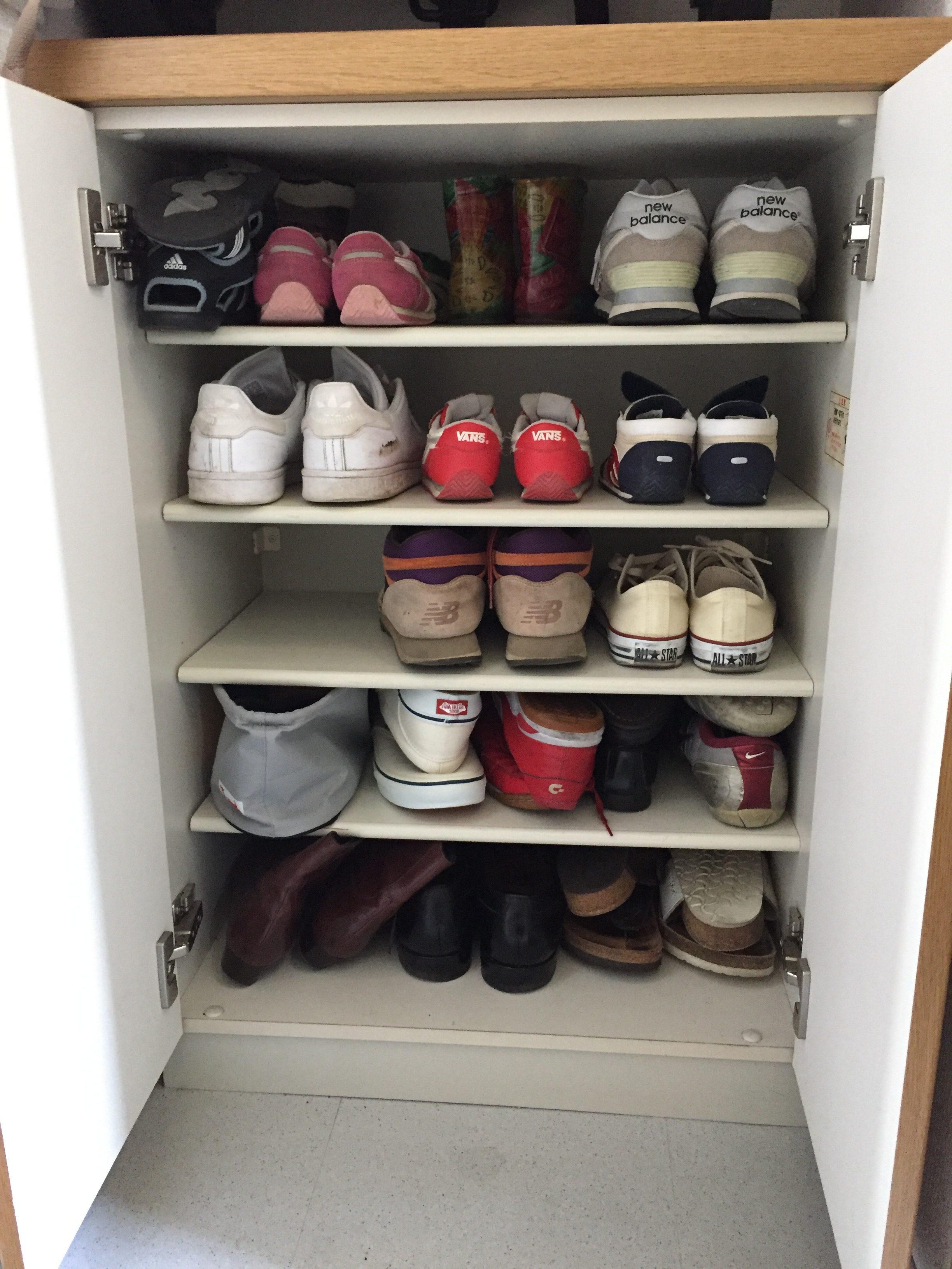 4人家族 靴箱