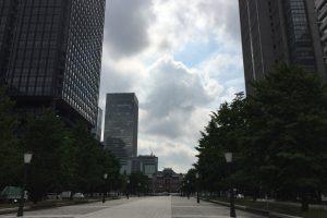 東京駅 くもり