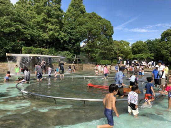 尼崎 水遊び