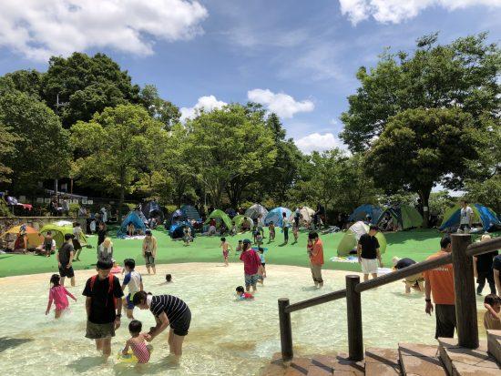 西山公園 水遊び