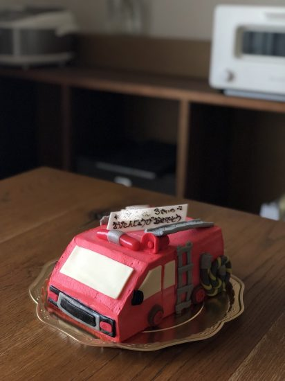 消防車 ケーキ