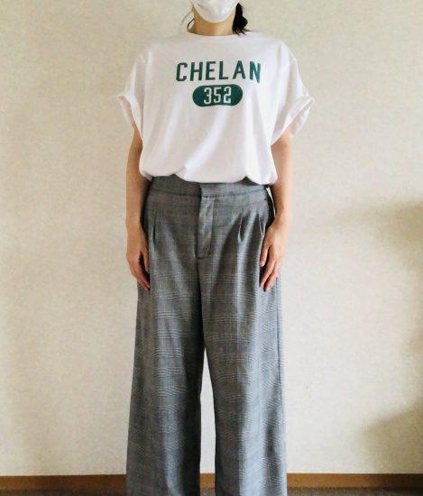 Tシャツ ワイドパンツ